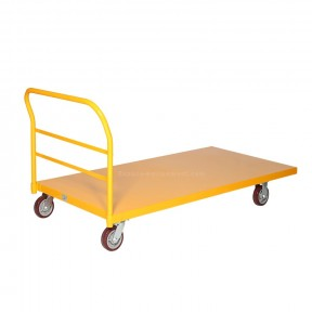 Chariot 1830 x 915mm / 900Kg jaune en acier vue d'ensemble