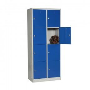 vestiaire multicases 8 cases avec porte de casier ouverte