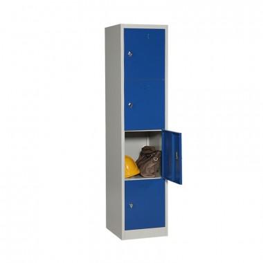 Vestiaire multi cases 4 cases porte ouverte avec accessoires
