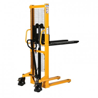 Vue d'ensemble du gerbeur manuel levée 1600 mm capacité de charge 1000 kg