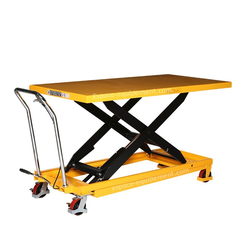 Table l vatrice 500kg 1600x810mm espace equipement for Table elevatrice