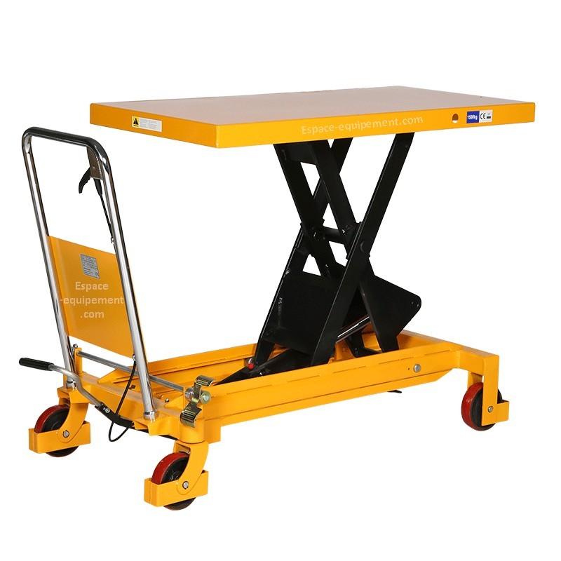 Table l vatrice 1500kg espace equipement for Table elevatrice