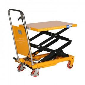 Table elevatrice double ciseaux 150 kg vue de 3/4