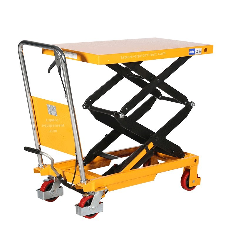 Table l vatrice double ciseaux 350kg espace equipement for Table elevatrice a ciseaux