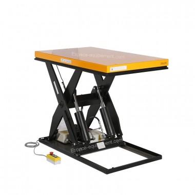 Vue d'ensemble de la table elevatrice electrique 2 tonnes position haute