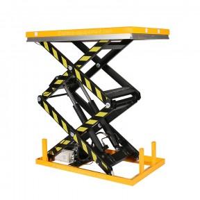 vue d'ensemble de la table élévatrice double ciseaux 1000 kg plateau 1300 x 820 mm