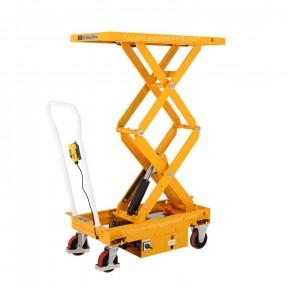 Table élévatrice mobile électrique force 300 kg plateau haut