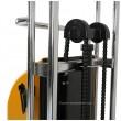 zoom de la double chaine du Gerbeur table semi electrique levee 1500 mm capacité 400 kg