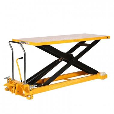 Vue d'ensemble de la table élévatrice 1000 kg plateau 2035 x 750 mm