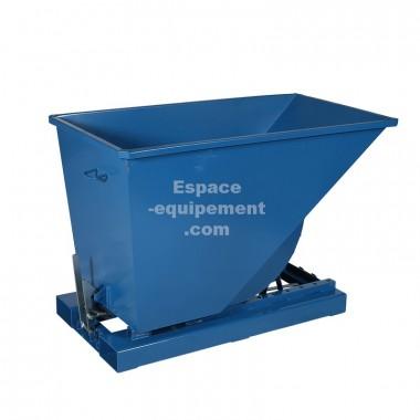 Vue d'ensemble de la benne autobasculante 600 litres