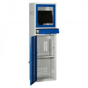 Armoire Informatique Fixe avec portes ouvertes