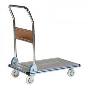 Chariot de manutention avec manche rabattable en aluminium