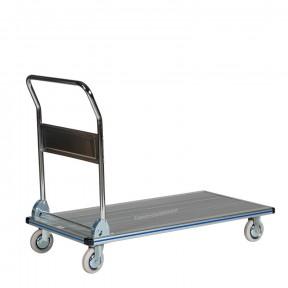 Chariot de transport professionnel avec manche rabattable en aluminium