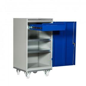 Armoire d'atelier mobile 1 porte avec tiroir intérieur