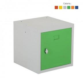 Vestiaire multibox professionnel vert avec fermeture moraillon porte cadenas
