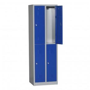 Vestiaire bi places 4 cases L30cm