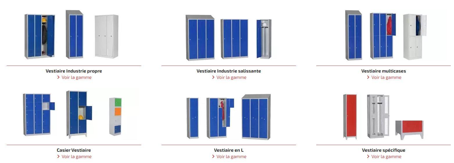 guide vestiaire metallique categories